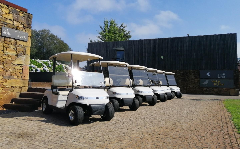 El club de golf portugués Vale Pisão renueva su flota de vehículos con cinco nuevos coches eléctricos