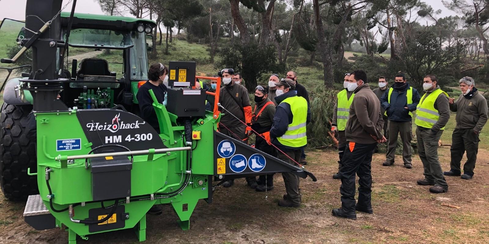 O Grupo Internaco fornece ao Real Club de Golf Puertas de Hierro a maquinaria necessária para acondicionar o seu campo após a tempestade de neve Filomena